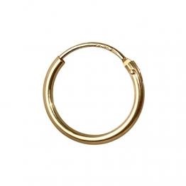 NKlaus EINZEL 750 gelb GOLD gestempelt Creole Ohrring Ohrhänger Ohrstecker 13mm 1756 - 1