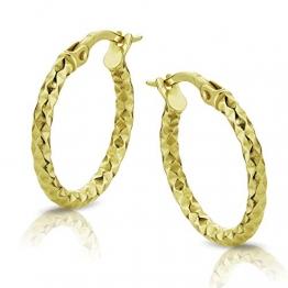 Orovi Damen Gold Creolen Ohrringe GelbGold Ohrringe 18 Karat (750) Ohr-Schmuck - 1