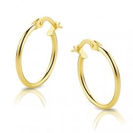 Orovi Damen Ohrringe Gelbgold Creolen 18 Karat (750) Gold - 1